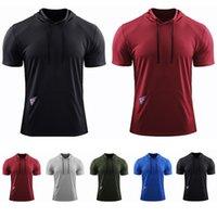 Mens de manga curta bolso camiseta jaqueta de secagem rápida masculina treinamento treinamento polos aperteiras top solto esportes suéter fitness qualidade pulôver roupas
