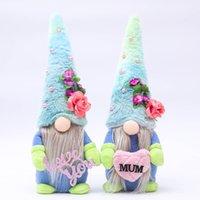 2021 anneler günü yüzsüz bebek peluş parti hediye karikatür cüce mavi şapka rudolph seni seviyorum anne peluş bebekler gnome dekorları whh21-226