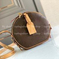 Femmes luxurys designers sacs 2021 sacs à main sacs à main Brochebody godet femmes originale marque mode véritable cuir véritable qualité de qualité rond cercle brun mini