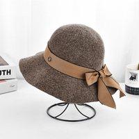 Роскошная осень и зима новый Chenille вязаный вязаный корейский рыбацкий бассейн складной мода шляпа солнце