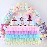 Tulle tabela saia festa de aniversário tutu Dobra saias onduladas favores favores banquete casamento decoração home têxteis