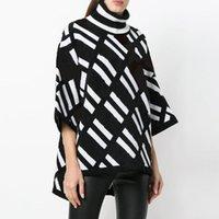 2021 roupas de luxo camisola feminina para mulher desenhador blusas casuais malha contraste cor de mangas compridas outono moda clássico mulheres jumper