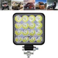 Working Light 1pc 100W 16-LED Work Bar Floodlight Car ATV Off-Road Driving Fog Lamp 12V   24V With Bracket Accessories