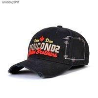 DSQICOND2 캐주얼 블랙 야구 모자 남성 브랜드 DSQ 편지 Snapback Mens 여성 Gorras Bone Dad Hats Hip Hop CasquetteUDTF