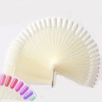 50 adet x 5 Doğal Fan Şeklinde Sahte Nail Art İpuçları Lehçe UV Jel Çıkartmalar Süslemeleri Ekran Sticks Manikür Setleri Araçları