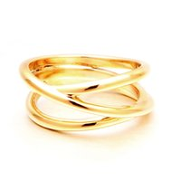 VAROLE Punk Hollow Out Lines Ring Gold Color Minimalist Finger Rings For Women Accessories Fashion Jewelry Gifts