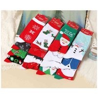 Santa Claus elk Snowman 17 women's middle tube adult Christmas Chinese New Year festive red socks