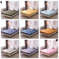 Sheets & Sets ( Product Update)1pc 100%Polyester Solid Fitted Sheet Mattress Cover Four Corners With Elastic Band Bed Sheet(no Cases)