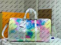2021 Mens camouflage Voyage Bagage Bagager Sac Femme Luxurys Designers Sacs Sacs à dos pour hommes Vu la grille colorée Porter des valises grandes