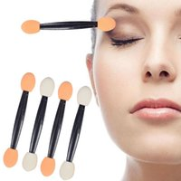 Makeup Brushes 10 Pcs Disposable Eyeshadow Brush Dual Sided Sponge Nylon Sets Eye Shadow For Cosmetic Applicator Manicure Tools