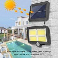 COB 100/108/120 / 128led Solar Wall Lamp Light Outdoor Garden Lights PIR Motion Sensor Spotlights Emergency bezpieczeństwa