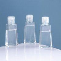 Bouteille en plastique pour animaux de 60 ml de 60 ml avec capuchon de rabattage des bouteilles de désinfectant à main vides conteneur cosmétique rechargeable