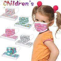 Christmas Disposable 3 layers Kids fashion mask  Halloween Designer children Face Masks Non-Woven Anti-Dust top quality