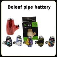 Authentic Beleaf Pipe Battery Smart Vape Pen Cartridge Batteria regolabile 900mAh Preriscaldamento VV VV VOLTAGGIO VOLTAGGIO 510 Thread e tubo