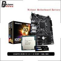 Intel Core i3 9100f وحدة المعالجة المركزية + جيجابايت GA H310M S2 2.0 اللوحة الأم Pumefitou DDR4 8G 16G 2666MHZ RAMS بدلة LGA 1151 دون برودة 11