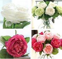 Büyüleyici Yapay İpek Dekoratif Çiçekler Kumaş Güller Peonies Çiçek Düğün Ev Otel Dekor için NHD7078