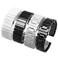 Pearl band black white ceramic bracelet for Tic Smart watch accessories replacement strap