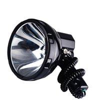 Портативные фонарики Яркие защитные ущербы HID Spotlight 220W Xenon Search Light Hunting 12V прожектор 35W, 55W, 65W, 75W, 100W, 160W