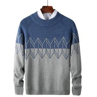 Brand Designer Sweaters Men 2021 Winter Slim Fit Sweater Male Cashmere Knittwear Pullover Mens Patchwork Knitted Outwear Coats Men's