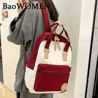 Backpack BaoWomen 2021 Women Solid Color Shoulder Bag Fashion School For Teenage Girls Backpacks