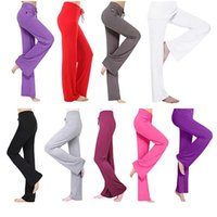 Women Yoga Pant Drawstring Summer Plus Size Sports Activewear Stretchy Loose Trousers Moisture Wicking Lightweight Purple Yellow Red Modal Flare Leg Pants