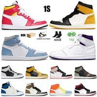 Nike Air Jordan Retro 1 Jumpman 1s Erkek Bayan Basketbol Ayakkabıları Yüksek OG Hyper Royal Shadow 2.0 Korkusuz Dijital Pembe Chicago Eğitmenler Spor Sneakers Boyut 36-46