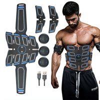 EMS Abdominal Muscle Stimulation Trainer USB Rechargeable Slimming Massager + 3 Controller ABS Abdominal Massage