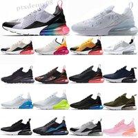 NIKE AIR MAX 270 2021 Cushion Mens runnin Shoes Triple Black Summer Gradients 27s Sneakers Rainbow 27c Women Sports Trainers Size 36-45 SL01