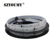 Полосы SZYOUMY 5M 6803 IC Цифровой RGB Светодиодная полоса 150 светодиодов IP67 Водонепроницаемый Водонепроницаемый Magic Color Труглый / M DC12V