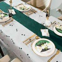 럭셔리 디자이너 식탁보 3D 방수 테이블 천으로 직사각형 저녁 식사 홈 주방 장식 폴리 에스터 차 테이블 보관소