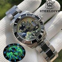 Kanagawa Wave quadrante uomo orologio da uomo zaffiro 300m resistenza all'acqua NH35 Automatic Movimento subacqueo orologi da polso orologi da polso