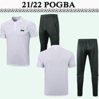 2021 2022 POGBA POLO MENS Jerseys de fútbol Kit Rashford Martial Lingard Math James Cavani Naranja Purple Football Shirt Set de pantalón de manga corta
