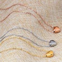 Cristal de aço fresco pequeno da colar de aço do amor de alta qualidade de Swarovskis 3 Cores cabem mulheres e fêmea como presentes doces colares pingentes