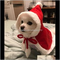 Apparel Christmas Supplies Red Hooded Cloak Cape Fashion Dog Cat Puppy Shawl Costumes With Hat Coat Santa Claus Clothes Gift Pet Ljwn9 Nfzhe