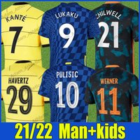 CFC Lukaku Futebol Jerseys Versão Jerseys Blues Monte Pulisic Werner Havertz Football Shirts Kante Chilwell Jorginho Ziyech Abraham Jersey Man Kit Kids 2021/22
