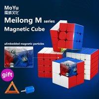 Moyu Meilong 3m 2m 2m 4m 5m 2x2 3x3 4x4 5x5 Magnético Magnético Cubo Magic Cubing Cubor Cubo Aula Imanes Puzzle Cubes Juguetes para niños Meilong M