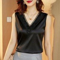 Women's Blouses & Shirts Summer 2021 Large Loose Simulation Silk Satin Top