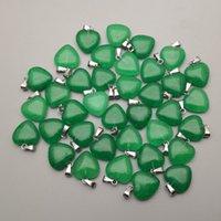 Améthystes en pierre naturelle Collier de pendentif en pierre pour bijoux Fabriquée 15mm Charm Accessoires de mode 36pcs Q1113 629 Q2
