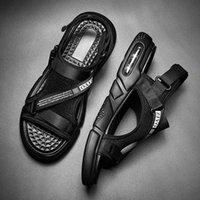 Sandalias de alojamiento de alojamiento de aire plano para hombre de verano Zapatos casuales de ocio Playa sin deslizamiento Suela de goma sin deslizamiento exterior grande 38 44 Sandalias para caminar Sandalias de x4cp #