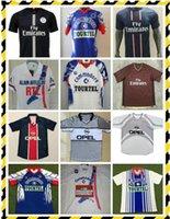 01 2002 Paris Ronaldinho Jersey de fútbol retro 01 02 Anelka Okocha Heinze Pochettino Arteta Aloisio Camisa de fútbol clásico Vintage