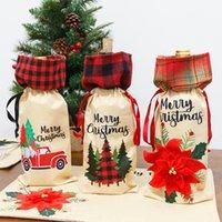 Weihnachten Dekorationen Claus Wine Cover Gesichtslose Evenellose Klebstoff Puppe Weine Flasche Dekoration Weihnachten Nordic Land Gott Santa Hängende Verzierung WY1392