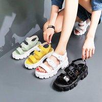 Platform Sandalen Sommer 2021 Weibliche Schuhe Frau Block Ferse Mode Schnalle Kausal Zapatos Plataforma de Mujer Fiesta Kleid