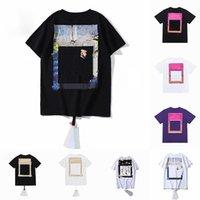 Yaz Erkek Bayan Tasarımcılar T-Shirt Gevşek Tees Moda Markaları Tops Adam S Casual Gömlek Lüks Giyim Sokak Şort Kol Giysileri T Shirt 2021