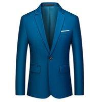 Men's Suits & Blazers Men Slim Fit Office Blazer Jacket Autumn Fashion Solid Mens Suit Wedding Dress Coat Casual Business Male 2021