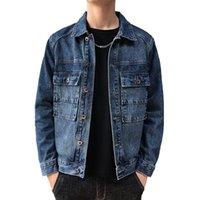 새로운 남성 청바지 재킷 남성 봄 폭격기 자켓 남자 힙합 남자 빈티지 데님 자켓 코트 스트리트웨어 Chaqueta Hombre M-5XL