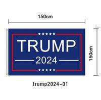 90 * 150cm Trump 2024 Flag Imprimir América Bandeira Jardim Donald Flags Poliéster Decoração Banner NHB6510