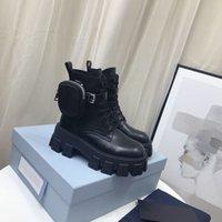 2021 Женщины Дизайнеры Rois Boots Лодыжка Нейлон Бойник Ботинок и Мартин Сапоги Дизайнеры Зимний Мартин Лодыжка Нейлон Бич Прикрепленная лодыжка