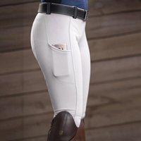 Women Solid Horse Riding Leggings High Waist Youga Pants Hip Lifting Tummy Control Slim Trousers Running Skinny Legging Women's & Cap Capris