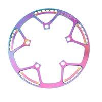 جولف التدريب الإيدز litepro للطي bmx دراجة صغيرة قوس قزح دراجة bcd130 دائري لوحة واحدة القرص والعتاد chainwheel كرنك مع غطاء