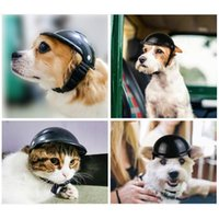 Dog Apparel Hat Cosplay Dress Up Helmets For Bike Motorcycles Cool Fashion Pet Protect Safety Ridding Costume Accessories Headwear